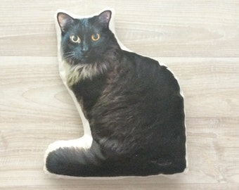 Personalized cat pillow custom cat pillow cat lover gift