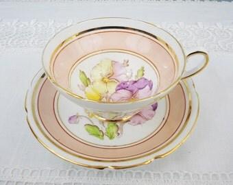 Stanley Pansies Bone China Teacup & Saucer