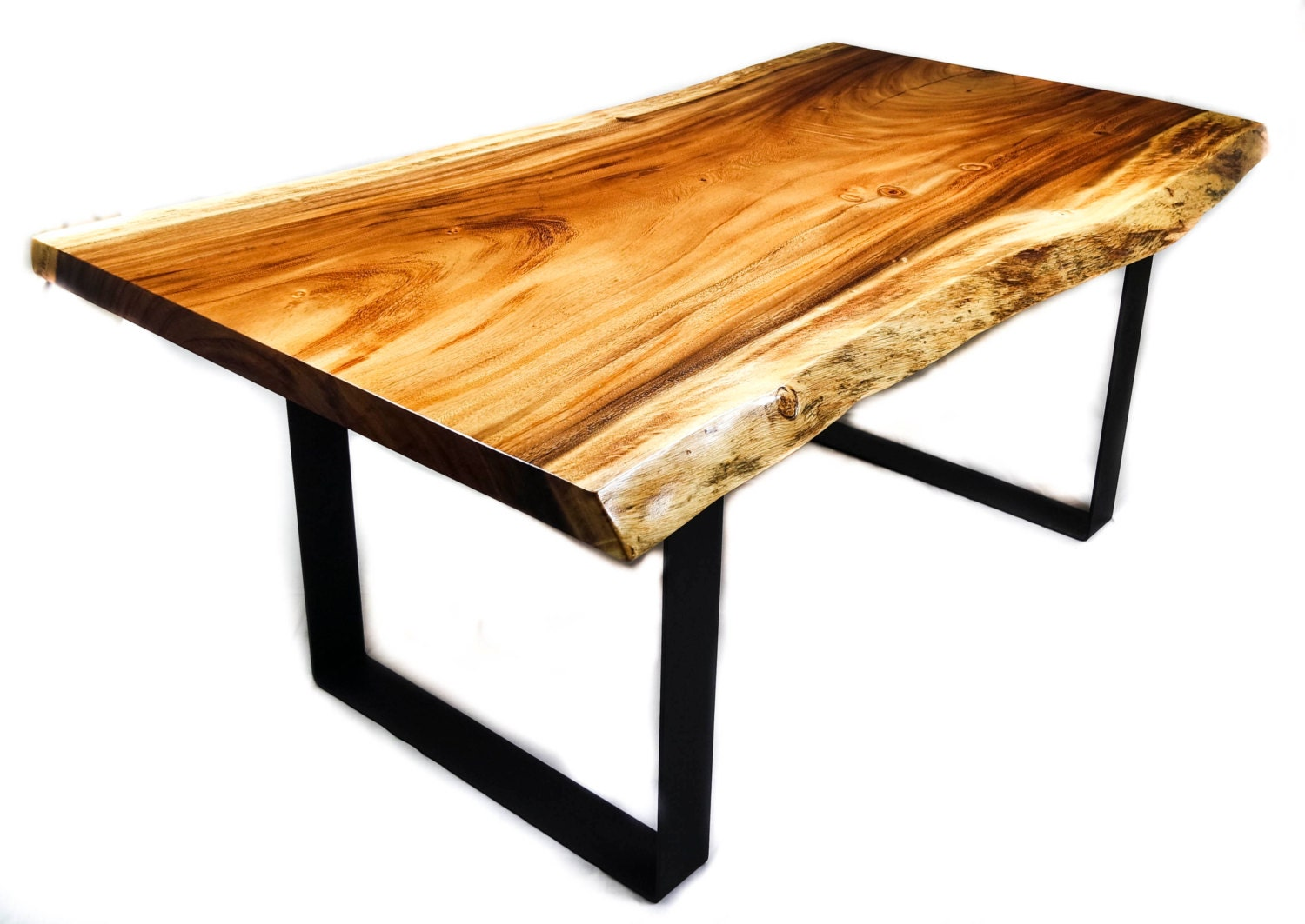 Monkey Pod Live Edge Dining Tables By Mericanrusticllc On Etsy