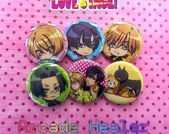 Love Stage!! Pinback button Set!