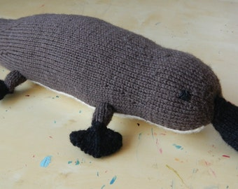 Platypus Knitted Toy