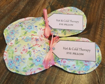 Rosie Posie - Eye Pillow - Hot And Cold Therapy Rice Pack (flannel)