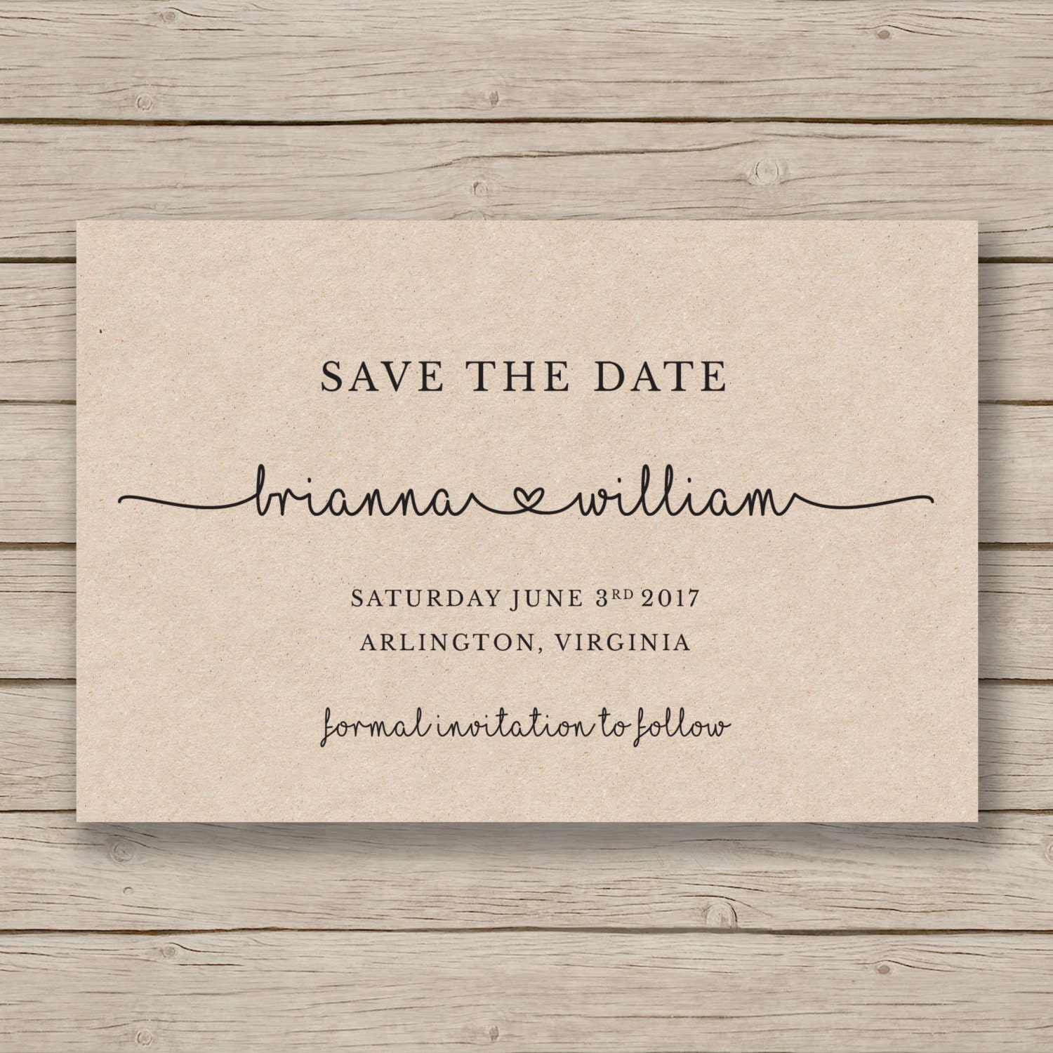 Current image for save the date printable