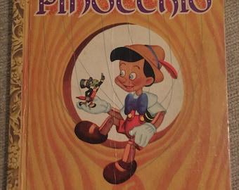 Vintage Little Golden Book Pinocchio 1948