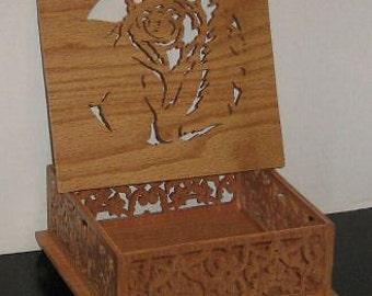 Handmade Wooden Victorian Woodworking Grizzley Bear Trinket Box Handmade