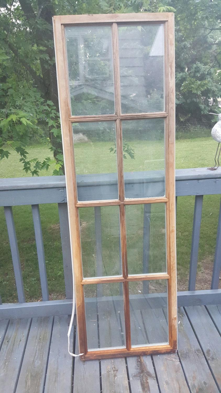 8 Pane Window Frame Vintage Old Window Frame 8 Pane Old Reclaimed Window Insulated