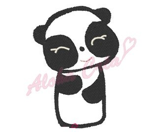 Machine Embroidery Design panda - Instant Digital Download