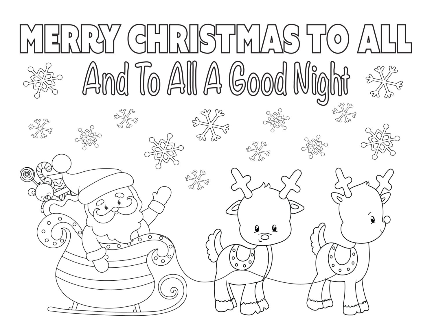 Kids christmas coloring and activity sheets - Christmas Coloring Page 8 5x11 Instant Download Printable Santa Coloring Sheet Holiday Coloring Kid S Christmas Activity Reindeer