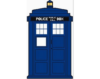 Tardis, Doctor Who, doctor who tardis, tardis crochet graph, tardis graph, tardis pattern, tardis crochet pattern, phone booth, police call