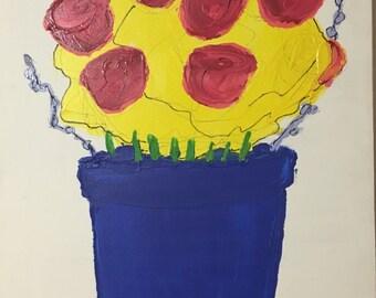 Flower Painting by Sean Gittens