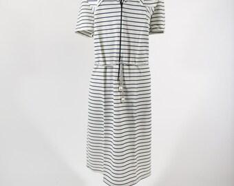 1970s Sriped Nautical Dress