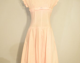Pale Pink 1940s Dress