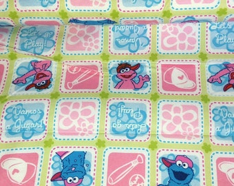 Baseball Sesame Street cotton  Cookie Monster Cotton Fabric