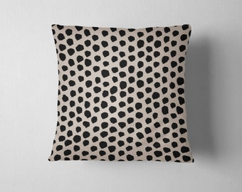 Black and tan spotted dalmatian throw pillow