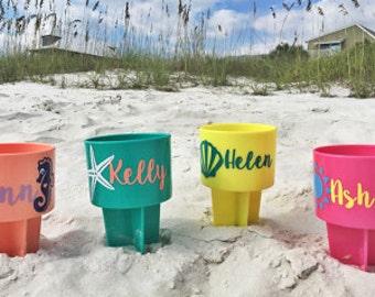 5 Or More Beach Spiker  Beach Drink Holder  Fun at the Beach  Beach Spike  Bridesmaid  Sorority   Free personalization