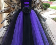 Maleficent Tutu Dress with Horns