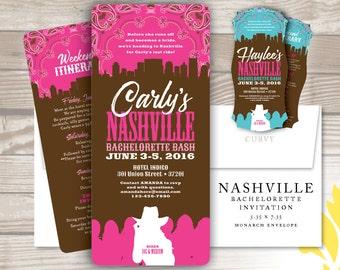 NASHVILLE . bachelorette invitation