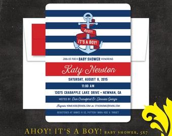AHOY! It's a BOY! . baby shower invitation