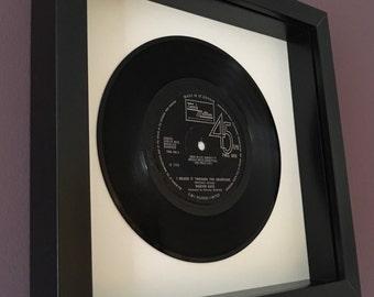 """Marvin Gaye """"I Heard It Through The Grapevine"""" - Framed Original Vinyl Gift"""