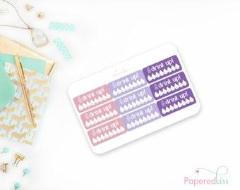 Lavender Love Hydrate Stickers