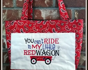 Little Red Wagon Tote