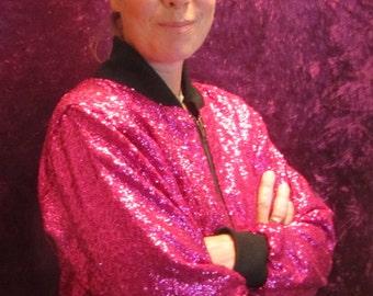 Fuschia pink bomber jacket