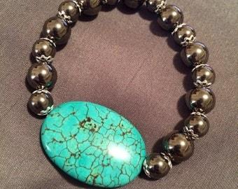 Turquoise Metallic Bracelet
