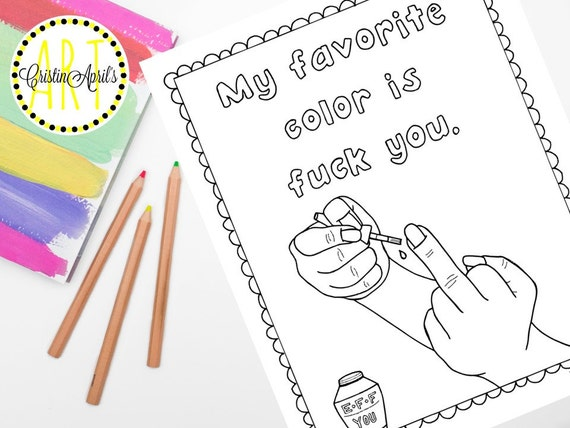 Sweary Word Printable Adult Coloring Book PageMy By