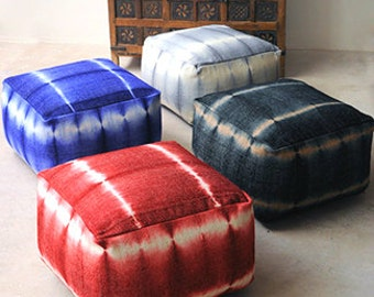 woolen ottoman/poof.PRE-STUFFED floor cushion seating available in many colors