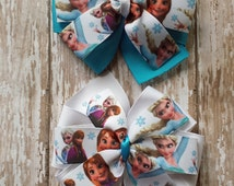 Frozen Hair Bows,Elsa Hair Bows,Anna Hair Bows,Frozen Hair Bows, Elsa and Anna Hair Bows,Frozen Birthday, Frozen Pinwheel Hair Bows.