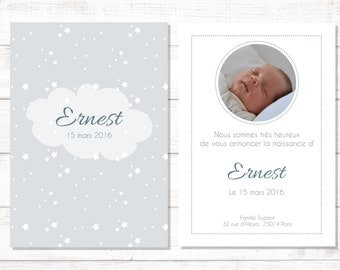 Personalized birth announcement Ernest