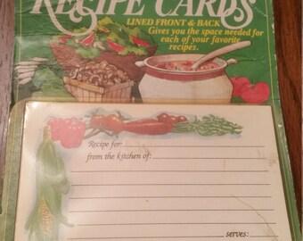 70s Vintage Conimar Recipe Cards / Veggie Recipe Cards / Vegetable Recipe Cards / Conimar / Christmas in July / CIJ / Rare / Retro / Baking