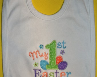 First Easter Bib, 1st Easter Bib, Baby Bib