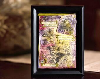 Poetry Art Shadow Box —Vintage Art Shadow Box