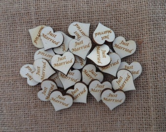 Just Married  Wedding Table Confetti Birch (25)