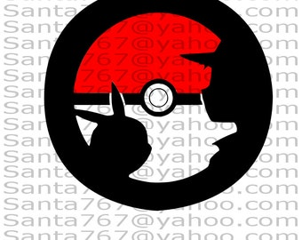 Ash and Pikachu SVG