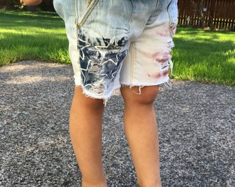 Girls stars and strips American flag shorts size 4