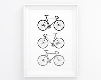 Bike Art, Bike Poster, Bicycle Print, Bike Wall Decal, Bicycle Art, Bike Artwork, Bicycle Wall Art, Bicycle Poster, Bike Wall Decor, Bikes