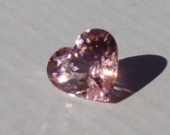 Natural Pink Morganite Heart 3.86ct