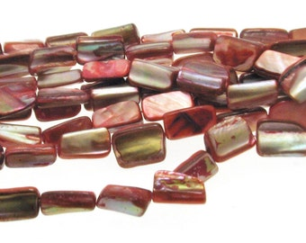 Natural Red Dyed Shell Beads Irregular Shape 8x15mm , Natural Sea Shell Beads, Shell Beads, Red shell beads