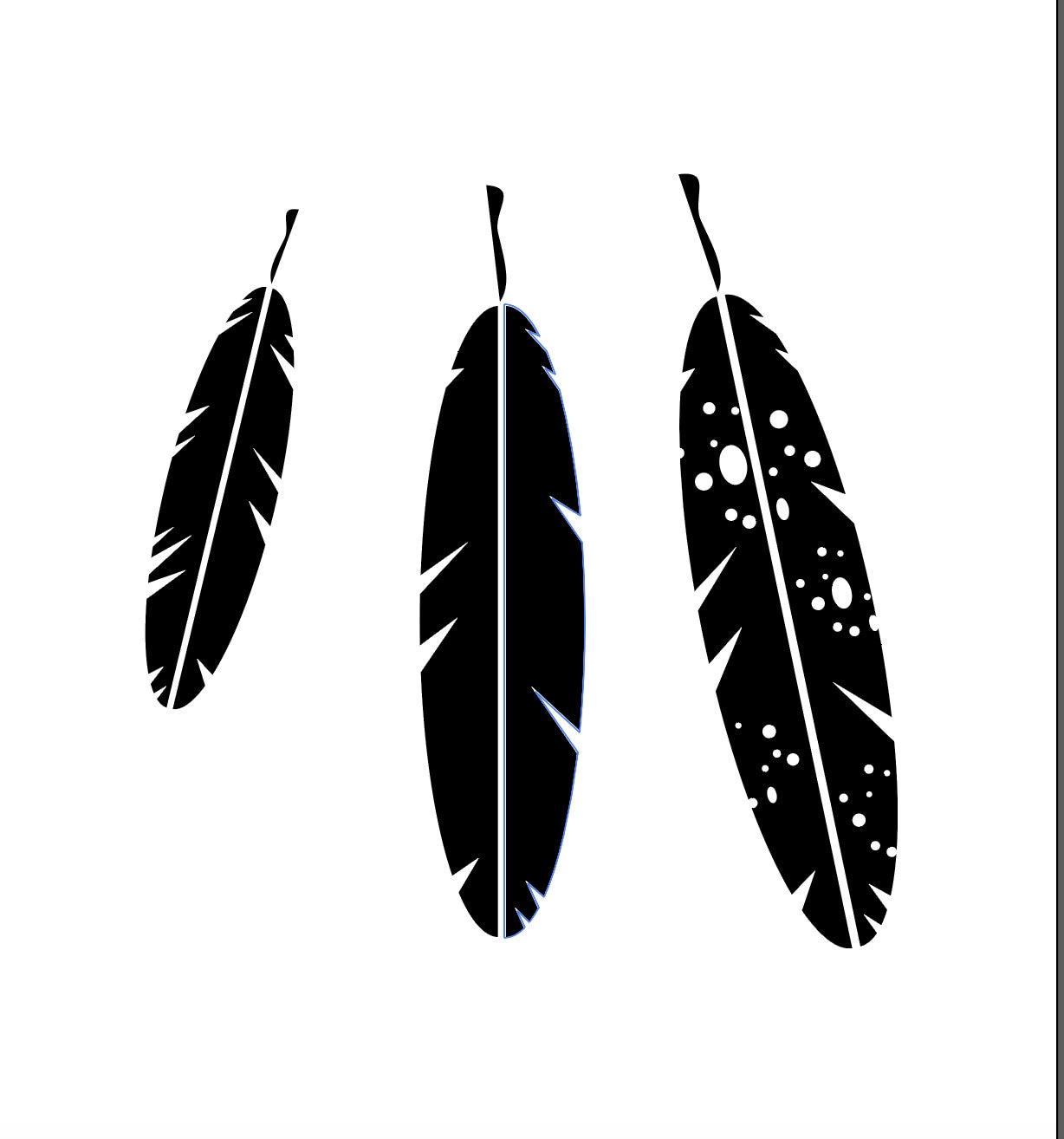 Feather Svg File Feathers Svg File Feathers Cut File Boho