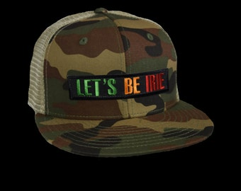 Let's Be Irie™ Hat - Camo and Khaki Trucker