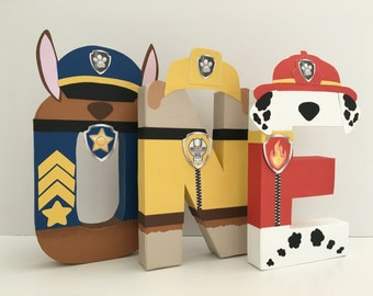 Paw Patrol Paper Mache Letters - 4-LETTER NAME