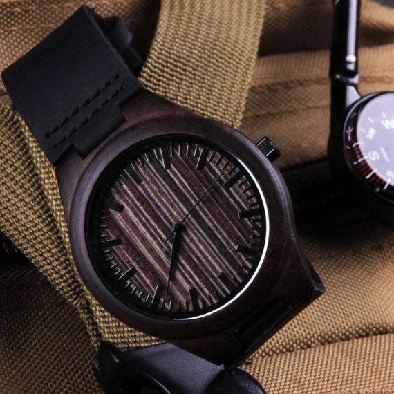 custom watches wood bamboo wrist personalized