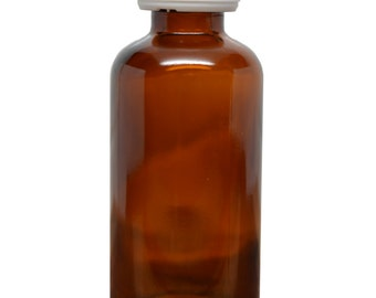 4 pack; 50 ml to 100 ml empty amber glass bottle with euro dropper for aromatherapy and essential oils