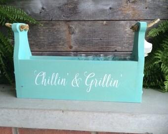 Chillin' & Grillin' BBQ Cutlery Caddy