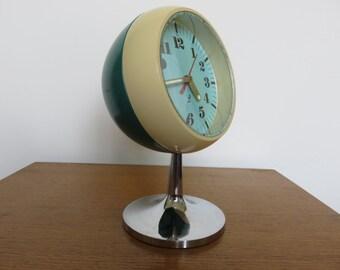 mechanical clock JAZ brand French foot Tulip 1970 70