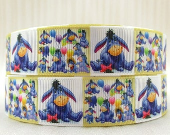 Disney Winnie the Pooh Eeyore 1 inch Ribbon by the yard