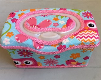 Pink Owls, Wipe Case, Wipes Case, Nursery Wipe Case, Baby Wipe Case, Baby Wipes Case, Wipes Holder, Wet Wipes Case, Wipes Container