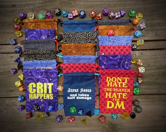 Dice Bags, Dungeons and Dragons, Roleplaying, Pathfinder